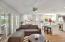 Family room, kiva style FP