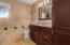 Guest bathroom in hallway - includes tub/shower