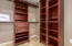 Check out this Master Closet with Custom built-in shelving and drawers!