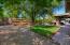 RV Gate, grass, mature landscaping, Paver patio