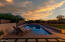 Removable pool fence conveys with home.