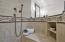 Private Master Bath with huge step in shower enclosure