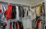 Very large, walk-in primary closet with room for LOTS of clothes