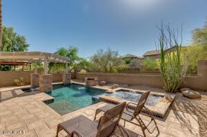 Beautiful backyard that backs to desert wash with no homes behind.