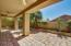 Large covered patio and charming back area