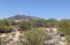 View of Black mountain from the community gate. The heart of Cave Creek and Carefree are at the base as well as a preserve you can hike to at the top.