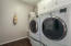 Laundry is large enough for full-size units