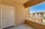 Balcony with storage closet