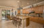 Expansive cabinetry provides ample storage.