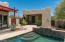 Detached guest house and pool area