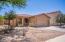Desert landscaped yard