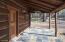 Slate tile covered patio