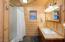 Pine Interior and slate tile flooring.