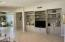 Built-in entertainment center/wall unit.