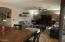 Kitchen/dining opens into the family room