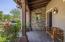 Charming front porch overlooks the cul-de-sac