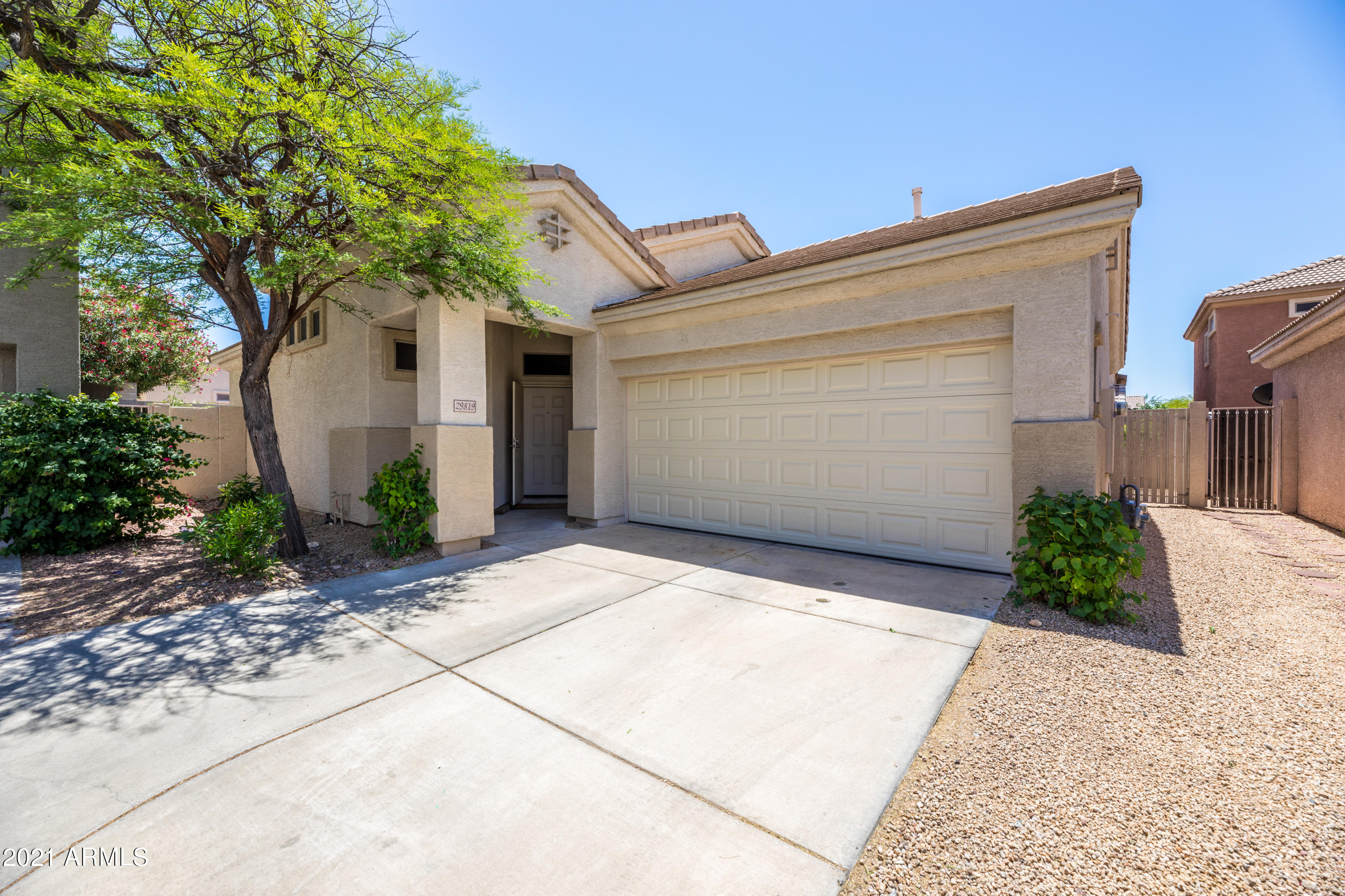 Serene desert abode situated on a quiet cul-de-sac in the highly desirable neighborhood of Tatum Ranch. This home boasts an open great room floorplan featuring vaulted ceilings, and an abundance of natural light. The upgraded kitchen offers granite countertops, stainless steel appliances, and island facing the family room. Spacious split master bedroom offers newer carpet, walk-in shower, and sliding glass doors leading directly onto the back patio. Two more sizable bedrooms enjoy comfortable carpet, large windows, and share full bath including newer cabinets installed 2018. Sunny south-facing backyard boasting two patios, plush grass, and low maintenance desert landscaping. Spectacular golf courses, schools, shopping, hiking, and 101 & 51 freeways within minutes of this charming home.