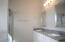 Spacious Master Bath with double sinks, lots of drawers and plenty of counter space.