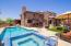 Spectacular back yard with new, heated pool and spa!