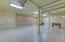 New expoxy 3 car garage with storage room