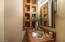 Hall Powder Bath with beautiful detail
