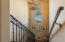 Beautiful stairway to fully finished basement