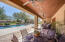 Beautifully detailed back patio for enjoying the gorgeous landscaping and mountain views