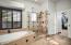Rimless glass shower door.