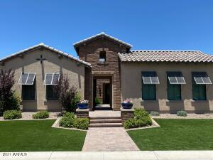 72 Hour Home Sale! This rare and exceptional semi-custom home features a  spacious, open and highly popular Aracena floorplan - with option to change 2 bonus rooms to bedrooms.  Home includes a chef's gourmet kitchen with upgraded white cabinets, Quartz island and countertops, 6 burner high end  gas range, double ovens, built in refrigerator and plenty of space to entertain!   Some additional upgrades include surround sound, home security system with 5 outdoor cameras, 3 car epoxy extended garage with custom garage cabinets, floor to ceiling stone gas fireplace and custom solid wood barn doors. Luxurious outdoor backyard  amenities includes a built in BBQ with covered ramada, gas fire pit, water feature and plenty of room to create the backyard pool of your dreams!  This home will go fast