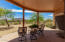 WOOD VEGAS AND HUGE COVERED OUTDOOR PATIO, GRANITE MT IN THE BACKGROUND