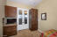 Built ins allow for versatility in this room