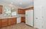 Kitchen has Corian Countertops