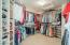 Master closet wiith custom built ins