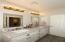 Hall bath serves guests & bedrooms 2 & 3
