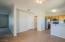 Nook in Dining Room, Garage Door and Half Bath
