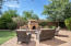 Outdoor entertaining area with built-in firepit!