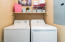 Convenient Laundry room located upstairs.