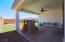 Spacious covered patio directly outside of the large sliding doors to the great room.