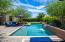The backyard is a private oasis!