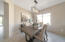 DINNING ROOM WITH GORGEOUS LIGHT