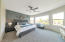 MASTER BEDROOM WITH BAY WINDOW...VIEWS TO THE LAKE. FEATURE WALL!