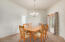 Good sized dining room that is great for entertaining.