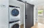 laundry room with new washer/dryer & barn doors