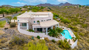 HILLSIDE ACRE LOT!!! WAY UP HIGH IN FOUNTAIN HILLS! UNOBSTRUCTED VIEWS! BEAUTIFUL CUSTOM HOME!