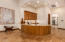 Wet Bar with Large Granite Counters & room for seating, kegerator, ice maker and wine refrigerator!
