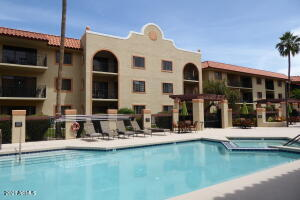 Pool courtyard always looks amazing and can be seen right from your balcony.
