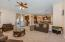 Enjoy this open and spacious floor plan from family room to eat in kitchen