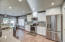Remodeled kitchen, new lighting and fixtures