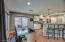 Light filled kitchen and eating area