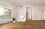Living Room Splits Primary Bedroom + Guest Bedroom